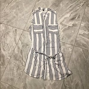 STRIPES TUNIC BUTTON DOWN DRESS